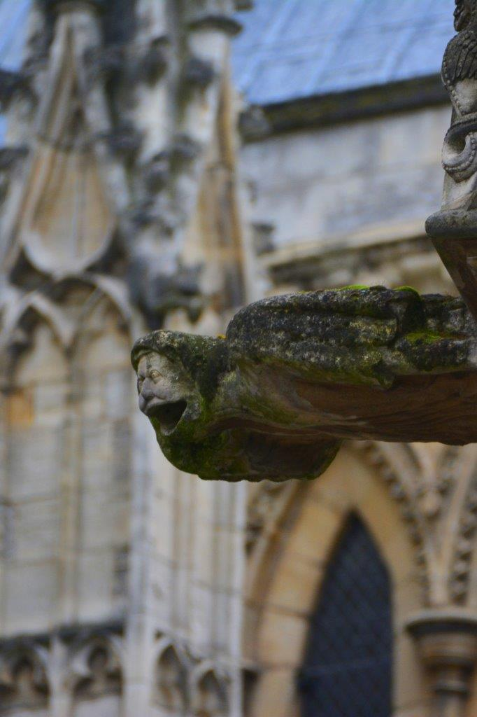 gargoyle on a cathedrial