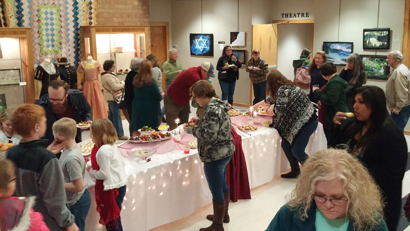 Reception at the Faculty Showcase event on February 3, 2018